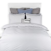 Lexington Checked Poplin Duvet Grey King
