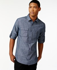 Sean John Chambray Shirt Navy