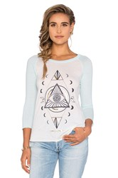 Spiritual Gangster Diamond Eye Raglan Tee Ivory