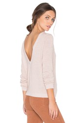 Equipment Calais V Back Sweater Pink