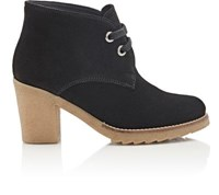 Barneys New York Women's Crepe Sole Desert Boots Black