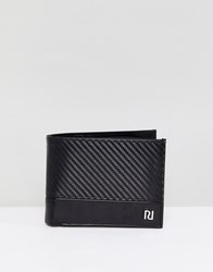 River Island Perforated Wallet In Black