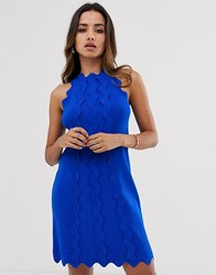 Ted Baker Rianori Knitted Swing Dress Blue