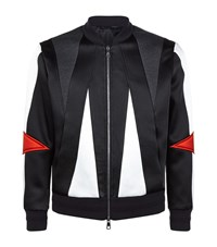 Neil Barrett Abstract Bomber Jacket Male Black