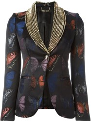 Philipp Plein 'Hey Beauty' Blazer Blue