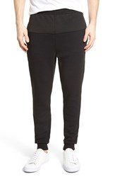 Men's Lacoste 'Lifestyle' Textured Panel Knit Sweatpants