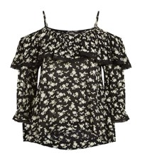 Denim And Supply Ralph Lauren Natalia Printed Blouse Female Black