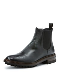 Frye Men's Greyson Leather Chelsea Boot Black