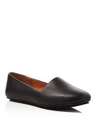 Kenneth Cole Jayden Tumbled Leather Flats Black