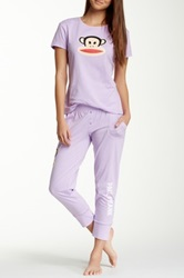 Paul Frank Back To Basics Pajama Set Purple