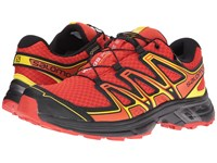 Salomon Wings Flyte 2 Gtx Lava Orange Black Corona Yellow Men's Shoes Coral