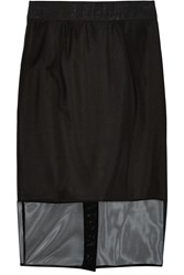 Milly Stretch Mesh Skirt Black