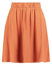 Selected Femme Sfbisma Mini Skirt Sierra Brown