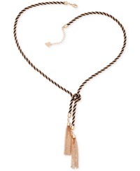 Guess Two Tone Knotted Tassle Necklace