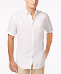 Weatherproof Linen Dobby Shirt Only At Macy's White