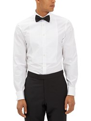 Jaeger Marcella Bib Slim Fit Dress Shirt White