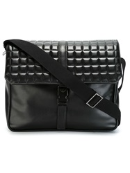 Emporio Armani Quilted Flap Messenger Bag Black