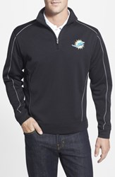 Cutter And Buck Men's Big Tall 'Miami Dolphins Edge' Drytec Moisture Wicking Half Zip Pullover