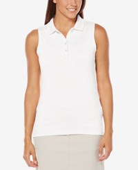 Callaway Opti Dri Sleeveless Golf Polo Bright White