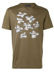 Etro Floral Print T Shirt Men Cotton Xxl Green