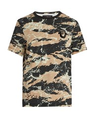 True Religion Camouflage Print Cotton T Shirt Multi