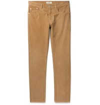 Belstaff Longton Slim Fit Cotton Corduroy Trousers Camel