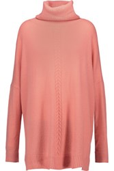 Magaschoni Cashmere Turtleneck Sweater Coral