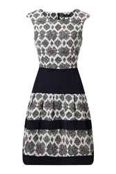 James Lakeland Jacquard Dress Navy