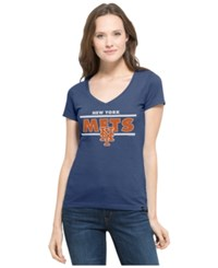 '47 Brand Women's New York Mets Speckle Flanker T Shirt Royalblue