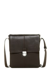 Cole Haan Smooth Leather Messenger Brown
