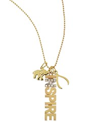 14K Inspire Charm Necklace With Diamonds Kacey K Gold
