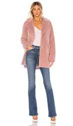 Soia And Kyo Amelot Sherpa Coat In Rose.