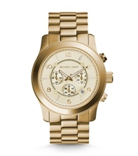 Michael Kors Runway Oversized Gold Tone Watch