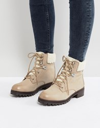 Aldo Uleladda Leather Lace Up Hiker Boot In Taupe Beige