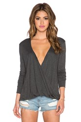 Blue Life Long Sleeve Cassidy Top Charcoal