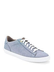 Cole Haan Round Toe Lace Up Sneakers Sky Blue