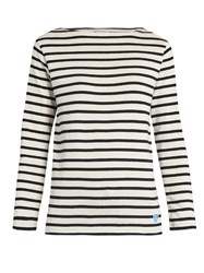 Orcival Breton Striped Cotton And Wool Blend Top Blue White