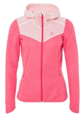 Salomon Elevate Mid Sports Jacket Hot Pink White