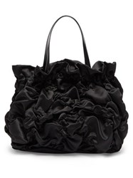 Simone Rocha Shirred Satin Tote Bag Black