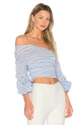 Lovers Friends X Revolve Bow Blouse White