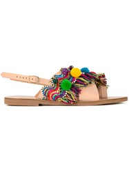 Elina Linardaki Kefi Sandals Brown