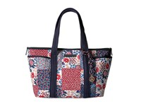 Tommy Hilfiger Dariana Patchwork Tote Red Multi Tote Handbags