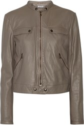 Tomas Maier Blouson Leather Jacket Nude