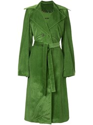 Rosie Assoulin Belted Trench Coat Green