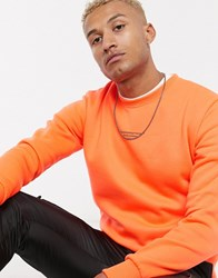 Good For Nothing Muscle Sweatshirt With Front Black Branding In Orange