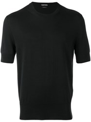 Tom Ford Knitted Short Sleeve T Shirt Black