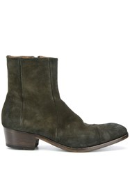Silvano Sassetti Suede Ankle Boots Green