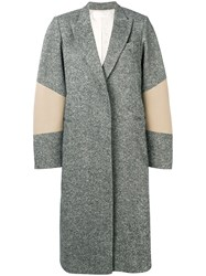 Victoria Beckham Patch Sleeve Tailored Coat Black