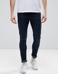 Dr. Denim Dr Leroy Drop Crotch Super Skinny In Organic Cotton Dark Retro Blue