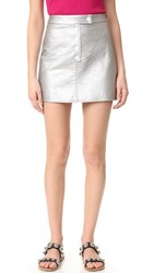 Courreges Mini Snap Skirt Silver